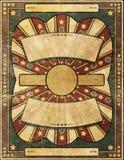 Bakgrund för affisch för Retro antik stilGrunge skadad Arkivfoton