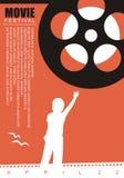 Bakgrund för affisch för filmfilm stock illustrationer