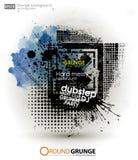 Bakgrund för affisch i grungestil Grungetryck för t-skjorta Royaltyfria Bilder