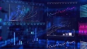 Bakgrund för animering för aktiemarknadrörelsediagram vektor illustrationer