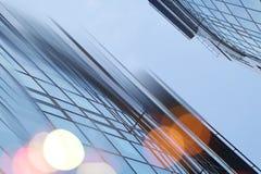 Bakgrund för arkitektur för abstrakt stad för affär modern stads- futuristisk Fastighetbegrepp, rörelsesuddighet, reflexion in Royaltyfri Bild