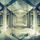 Bakgrund för arkitektur 3d för mörker abstrakt Royaltyfri Bild