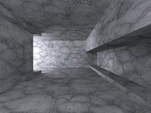 Bakgrund för arkitektur för abstrakt mörkerbetong inre Fotografering för Bildbyråer