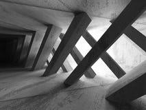 Bakgrund för arkitektur för mörkerbetongabstrakt begrepp modern Fotografering för Bildbyråer