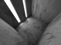 Bakgrund för arkitektur för mörkerbetongabstrakt begrepp modern Royaltyfria Bilder