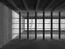Bakgrund för arkitektur för mörkerbetongabstrakt begrepp modern Royaltyfri Fotografi