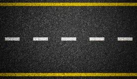 Bakgrund för asfaltvägmarkeringar Arkivfoton