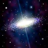 Bakgrund för astrologimystikergalax abstrakt begrepp mot avstånd för stående för bakgrundskvinnlig ytterkant VektorDigital färgri royaltyfri illustrationer