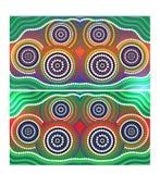 Bakgrund för Australien Aboriginal konstvektor Royaltyfria Bilder
