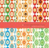 Bakgrund för aztec för färg för uppsättning 6 för vektor för repetitionmodell modern grafisk Arkivfoton