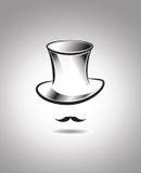 Bakgrund för bästa hatt för vektor Vektor Illustrationer