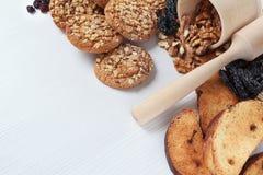 Bakgrund för bageri för hörnsida hemlagad Royaltyfri Fotografi