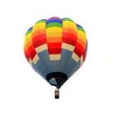 Bakgrund för ballong för varm luft isolerad vit Arkivbild