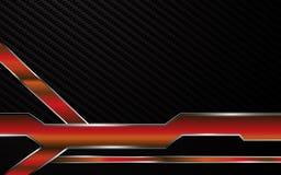 Bakgrund för begrepp för innovation för teknologi för abstrakt metallisk röd ramtech tävlings- Arkivfoto