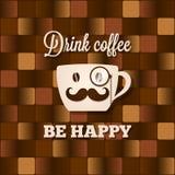 Bakgrund för begrepp för kaffekopp stock illustrationer