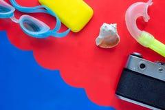 Bakgrund för begrepp för sommarsemester Fotografering för Bildbyråer