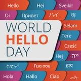Bakgrund för begrepp för världshälsningdag, tecknad filmstil stock illustrationer