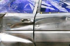 Bakgrund för bilkrasch Arkivfoton