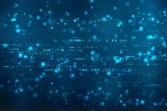Bakgrund för binär kod, Digital abstrakt teknologibakgrund royaltyfri illustrationer