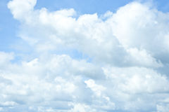 Bakgrund för blå himmel Royaltyfri Fotografi