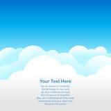 Bakgrund för blå sky Arkivfoto
