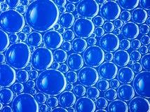 Bakgrund för blått för abstrakt begrepp för cellstruktur Royaltyfri Fotografi