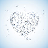 Bakgrund för blått för form för vattendropphjärta Royaltyfri Fotografi