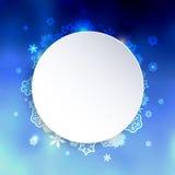 Bakgrund för blått för nytt år suddig med snöflingor Arkivbild