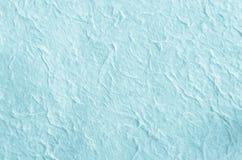 Bakgrund för blått papper med fiberstrukturen Royaltyfri Bild