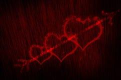 bakgrund för blodhjärtatextur Arkivbilder