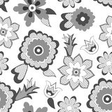 Bakgrund för blommamodell. Vektorillustration Royaltyfria Foton