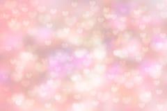 Bakgrund för bokeh för förälskelsehjärtaform härlig Royaltyfria Foton