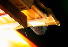 Bakgrund för bokeh för rengöringsduk för nattspindel` s Fotografering för Bildbyråer