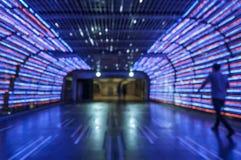 Bakgrund för bokeh för suddighetsgångbana färgrik ljus Fotografering för Bildbyråer