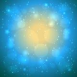 Bakgrund för bokeh för vektorabstrakt begreppblått Arkivfoto