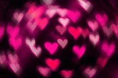 Bakgrund för bokeh för hjärta för dag för St-valentin` s rosa Arkivfoton