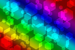 Bakgrund för Bokeh regnbågebegrepp Arkivfoton