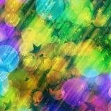 Bakgrund för bokeh för rundor för feriesuddighet manycolored royaltyfri illustrationer