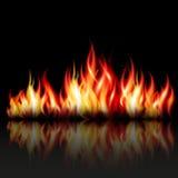 Bakgrund för brännskadaflammabrand Fotografering för Bildbyråer