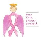 Bakgrund för bröstcancermedvetenhetmånad Arkivfoto