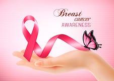 Bakgrund för bröstcancermedvetenhetrosa färger royaltyfri illustrationer