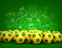 Bakgrund för Brasilien fotbollboll royaltyfri illustrationer