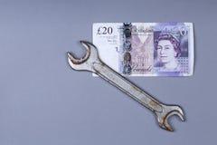 Bakgrund för brittiskt pund Arkivbilder