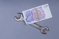 Bakgrund för brittiskt pund Royaltyfri Bild
