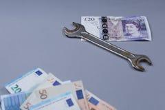 Bakgrund för brittiskt pund Arkivbild