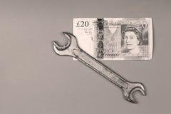 Bakgrund för brittiskt pund Royaltyfri Foto
