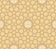 Bakgrund för brunt för Arabesquestjärnaprydnad royaltyfri illustrationer