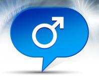 Bakgrund för bubbla för manlig symbolsymbol blå vektor illustrationer