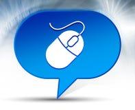 Bakgrund för bubbla för mussymbol blå vektor illustrationer