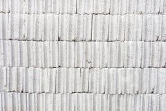 Bakgrund för cementtegelstenyttersida Arkivfoto